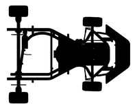 karting διάνυσμα 01 αυτοκινήτων Στοκ Εικόνα