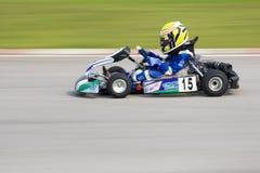 karting запачканный действием Стоковые Фото