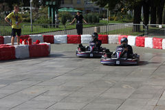 Karting. Red Bull Kart Fight - qualifications Sofia 29.09. 2012 Royalty Free Stock Image