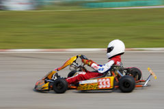 Karting Action (Blurred) Royalty Free Stock Image