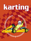 Karting background Royalty Free Stock Images