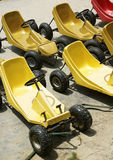 Karting  car. The karting  without engine for playing on grassland Stock Photography