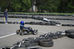 The karting championship. In Donetsk Stock Photography
