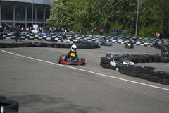 The karting championship. In Donetsk Royalty Free Stock Photo
