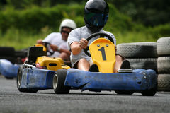 Karting close follower. Karting with a close follower bahind Stock Photos