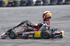Karting demonstration Royaltyfri Bild