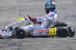Karting demonstration Royaltyfria Bilder