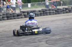 Karting demonstration Arkivfoton
