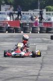 Karting demonstration Arkivbild