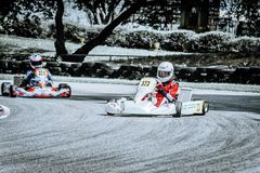 Karting 323 326 front view slide royalty free stock photography