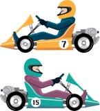 Karting Go Cart race vehicle Stock Photos