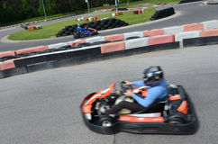 Karting. Going fast on a  track Stock Images