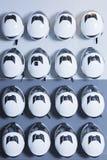 Karting helmets background Royalty Free Stock Image