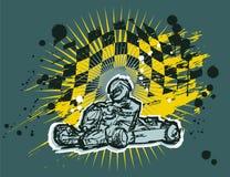 Karting-Hintergrund Lizenzfreie Stockbilder