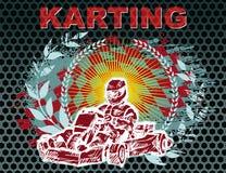 Karting-Hintergrund Lizenzfreie Stockfotografie