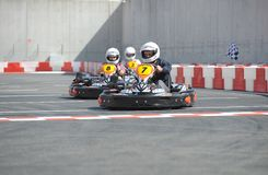 Karting journalist championship Stock Photos