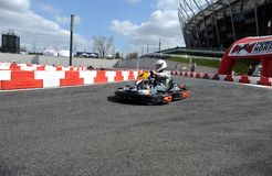 Karting journalist championship Royalty Free Stock Images