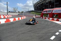Karting journalist championship Royalty Free Stock Photo