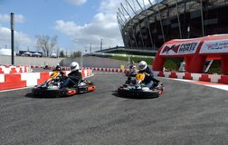 Karting journalist championship Stock Image