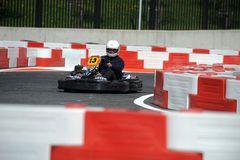 Karting journalist championship Royalty Free Stock Image
