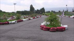 Karting. stock footage