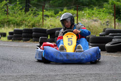 Karting number Five Stock Photos