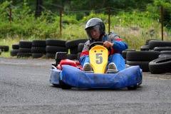 Karting number Five. Kartingpilot with number Five stock photos