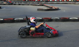 Karting player Royalty Free Stock Photos