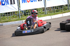 Karting race Stock Images