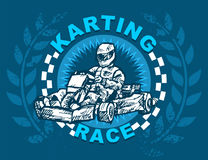 Karting race Royaltyfria Bilder