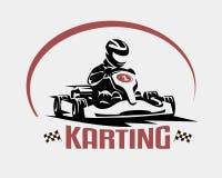 Karting race vector symbol. Logo or emblem template Stock Image
