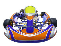 Karting racing car. Isolated on white Stock Image