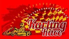 Karting Rennen Lizenzfreies Stockfoto