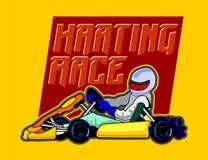 Karting-Rennenhintergrund Stockbild