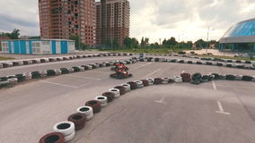 Karting, Rennstrecke stock video footage