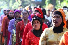 Kartini Day in Solo Royalty Free Stock Photo