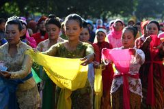 Kartini Day in Solo Stock Images