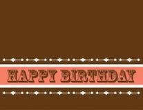 kartkę urodzinową greetng Zdjęcia Royalty Free