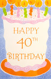 kartkę na urodziny Obraz Royalty Free