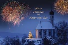 Kartka bożonarodzeniowa Fotografia Stock