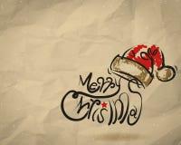 Kartka Bożonarodzeniowa marszcząca przetwarza papierowego tło Fotografia Stock