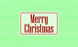 Kartka bożonarodzeniowa na zielonym tle ilustracji