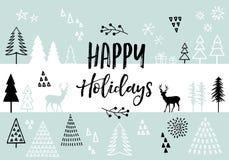 Kartka bożonarodzeniowa, wektorowy tło Zdjęcie Stock