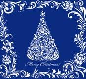 Kartka bożonarodzeniowa z bożymi narodzeniami balowymi royalty ilustracja