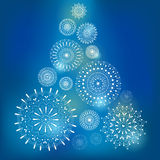 Kartka bożonarodzeniowa z płatkami śniegu Zdjęcia Royalty Free