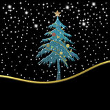Kartka bożonarodzeniowa z pustym miejscem, święta noc ilustracja wektor