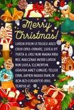 Kartka bożonarodzeniowa z ramą Xmas, nowy rok prezenty royalty ilustracja