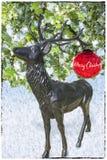 Kartka Bożonarodzeniowa z rogaczem i piłkami royalty ilustracja