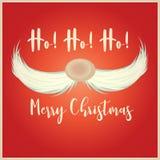 Kartka bożonarodzeniowa z Santa wąsem royalty ilustracja