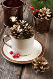Kartka bożonarodzeniowa z wakacyjnym składem Fotografia Stock